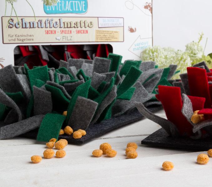 Schnüffelmatte Filz grün Details