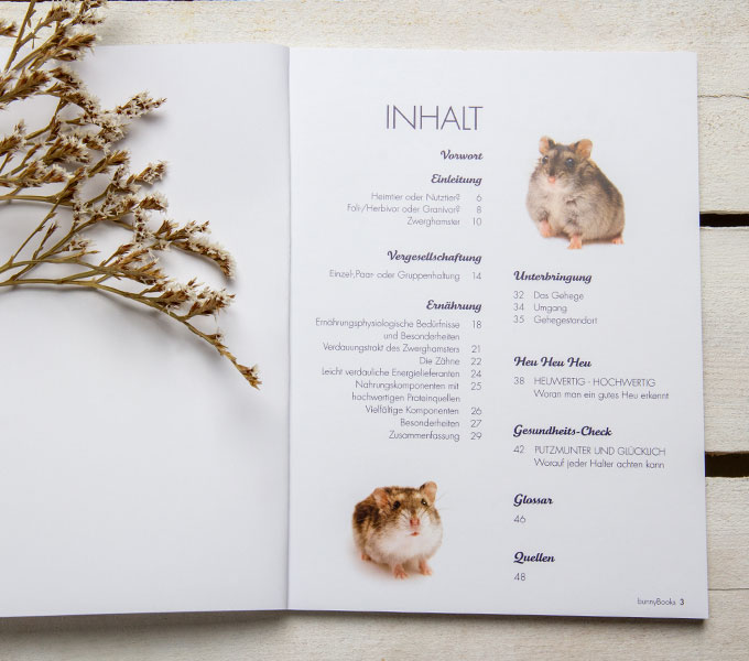 bunnyBook Zwerghamster  Details